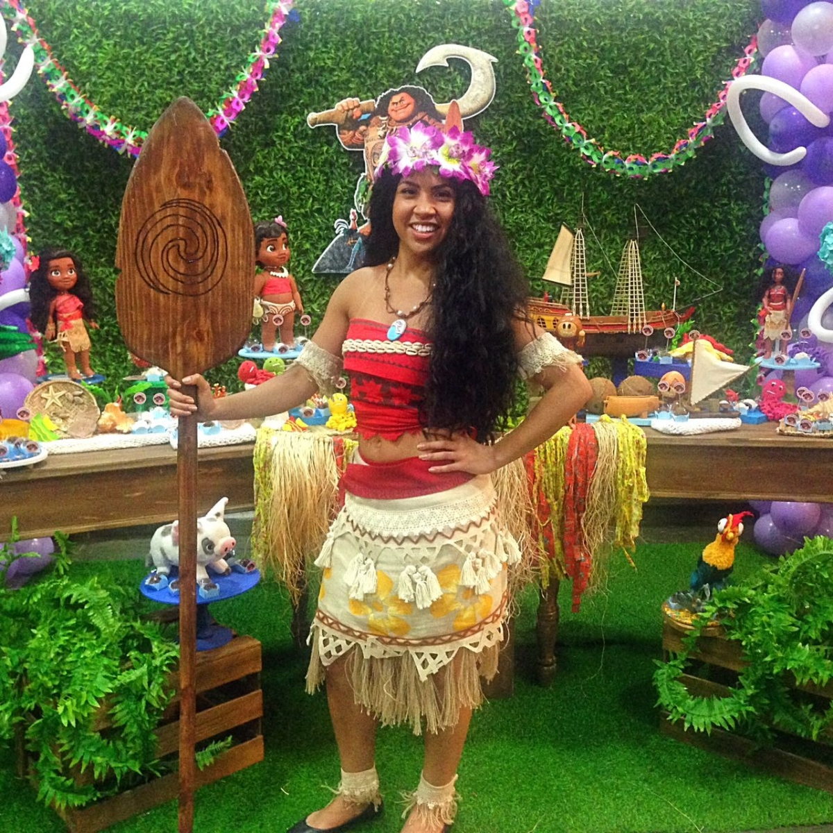 Moana Cosplay Wig Free Shipping for Halloween and